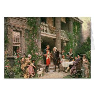 George Washington at Bartram's Garden Card