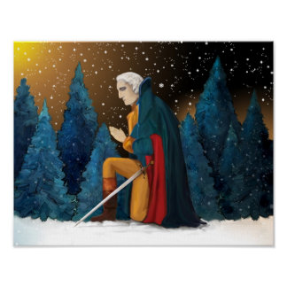 George Washington at Valley Forge Praying Poster