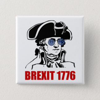 George Washington Brexit 1776 EU Flag Sunglasses 15 Cm Square Badge