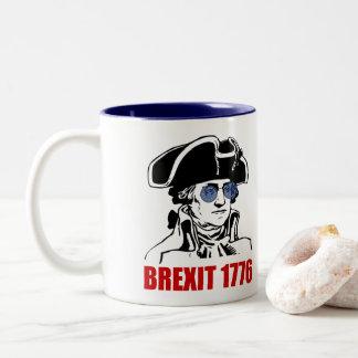 George Washington Brexit 1776 EU Flag Sunglasses Two-Tone Coffee Mug