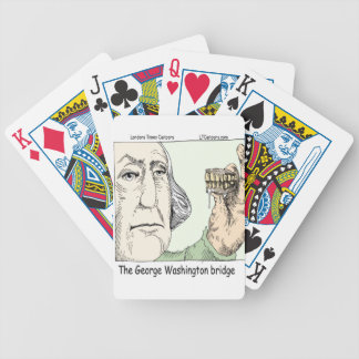 George Washington Bridge & Dentures Funny Gift Bicycle Playing Cards