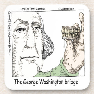 George Washington Bridge & Dentures Funny Gift Drink Coaster