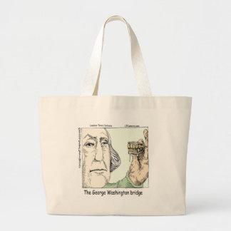 George Washington Bridge Funny Gifts Large Tote Bag