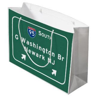 George Washington Bridge Interstate I-95 Newark NJ Large Gift Bag