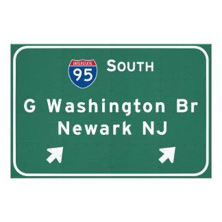 George Washington Bridge Interstate I-95 Newark NJ Photo