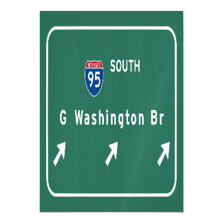 George Washington Bridge NYC New York City NY Magnetic Invitations