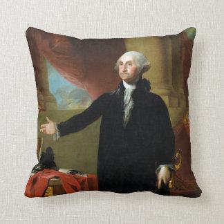 George Washington by Gilbert Stuart Cushion