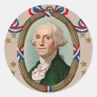 George Washington Classic Round Sticker