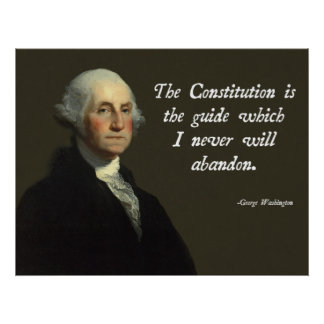 George Washington Constitution Poster