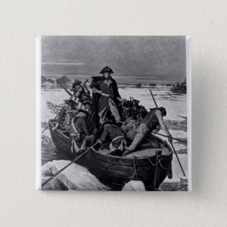 George Washington crossing the Delaware River 15 Cm Square Badge