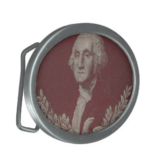 George Washington Eagle Stars Stripes USA Portrait Belt Buckle