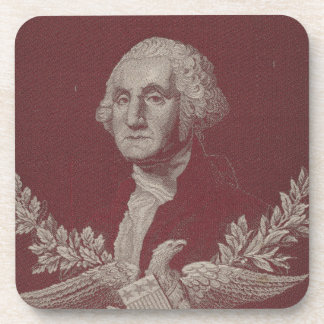 George Washington Eagle Stars Stripes USA Portrait Beverage Coasters