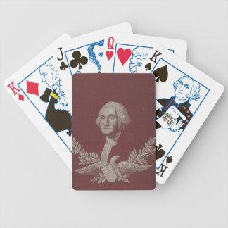George Washington Eagle Stars Stripes USA Portrait Bicycle Playing Cards