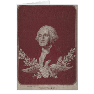 George Washington Eagle Stars Stripes USA Portrait Card