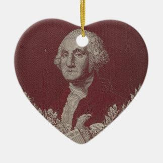 George Washington Eagle Stars Stripes USA Portrait Ceramic Ornament