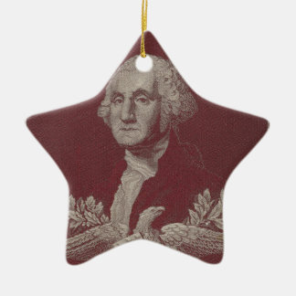 George Washington Eagle Stars Stripes USA Portrait Ceramic Ornament