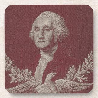 George Washington Eagle Stars Stripes USA Portrait Coaster