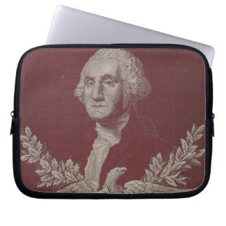 George Washington Eagle Stars Stripes USA Portrait Laptop Sleeve