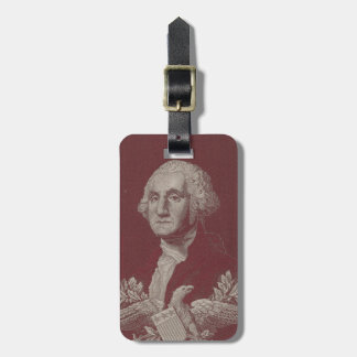 George Washington Eagle Stars Stripes USA Portrait Luggage Tag