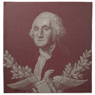 George Washington Eagle Stars Stripes USA Portrait Napkin