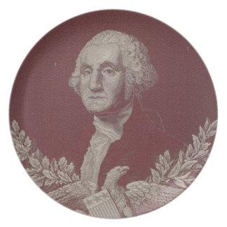 George Washington Eagle Stars Stripes USA Portrait Plate