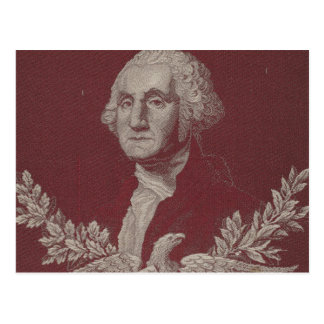 George Washington Eagle Stars Stripes USA Portrait Postcard