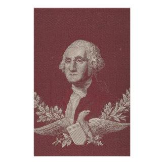 George Washington Eagle Stars Stripes USA Portrait Stationery