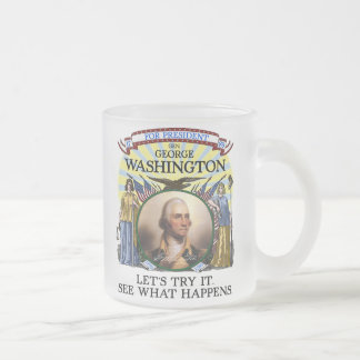 George Washington Election Stein Frosted Glass Mug