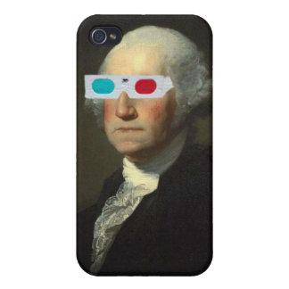 George Washington enjoys 3D Street Art iPhone 4 Covers