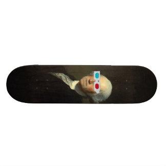 George Washington enjoys 3D Street Art Skate Board Decks