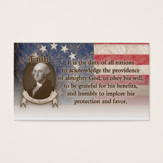 George Washington - Faith Business Card