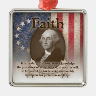 George Washington - Faith Metal Ornament