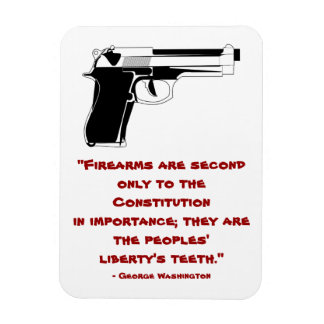 George Washington Firearms Quote Magnet