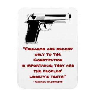 George Washington Firearms Quote Magnet Rectangular Photo Magnet