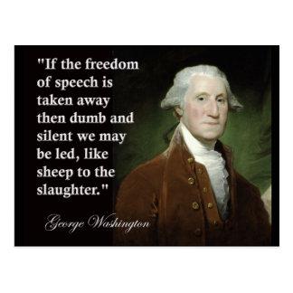 George Washington Freedom of Speech Quote Postcard