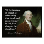 George Washington Freedom of Speech Quote Print