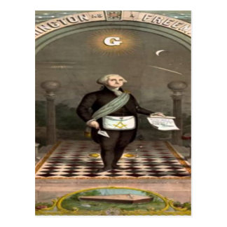 George Washington Freemason Postcard