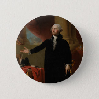 George Washington - Gilbert Stuart (1797) 6 Cm Round Badge
