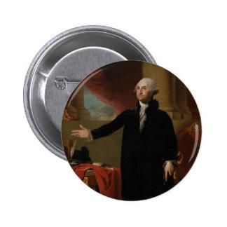 George Washington - Gilbert Stuart (1797) 6 Cm Round Badge