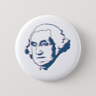 george washington in 3d 6 cm round badge