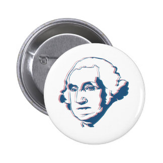 george washington in 3d 6 cm round badge