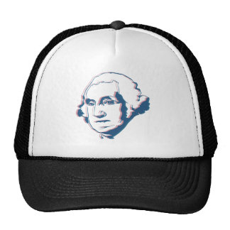george washington in 3d trucker hat