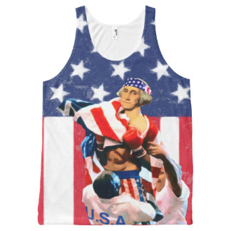 George Washington Independence Day All-Over Print Singlet