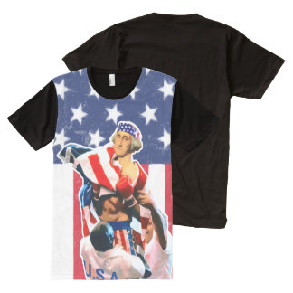 George Washington Independence Day All-Over Print T-Shirt