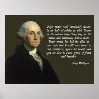 George Washington Money Quote Poster