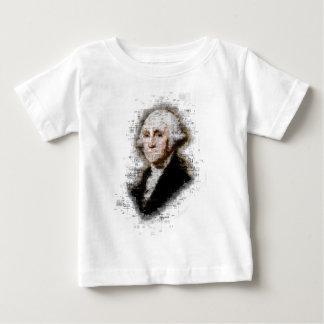 George Washington Newsprint Portrait Baby T-Shirt