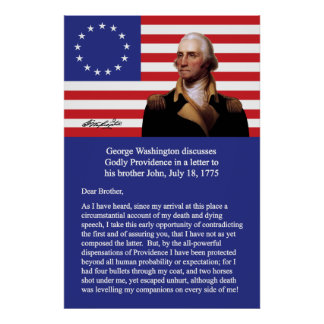 George Washington On Providence Poster