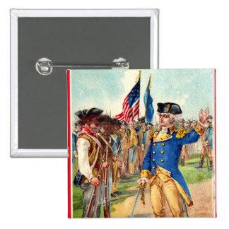 George Washington Patriotic 15 Cm Square Badge