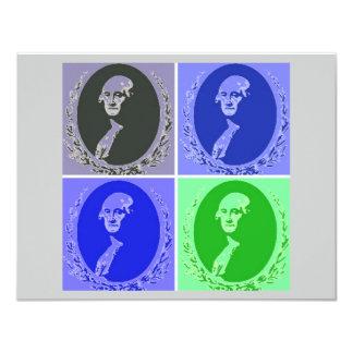 George Washington Pop Art Card