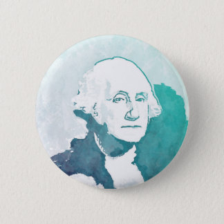 George Washington Pop Art Portrait 6 Cm Round Badge